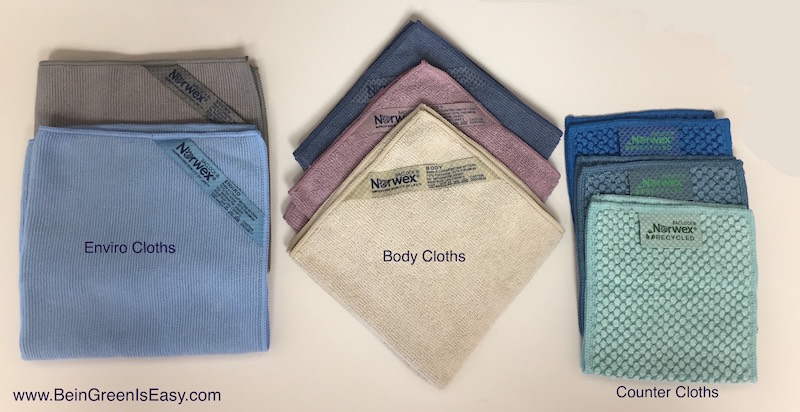 The top three Norwex cloths we use daily