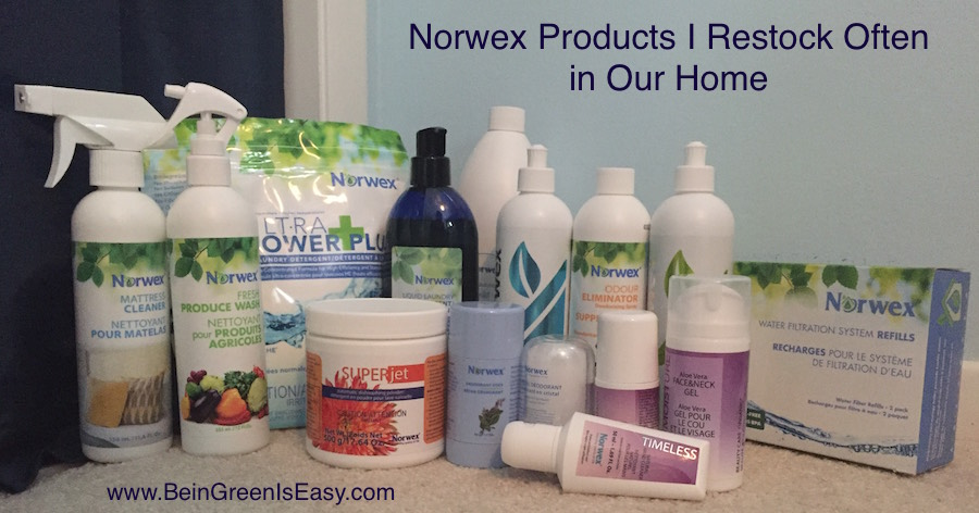 Norwex products we restock often in our home